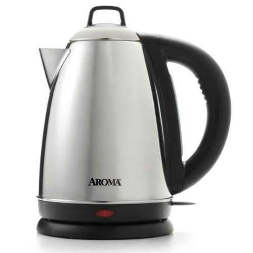 Aroma Hot H20 X-Press 1.5 Litre (6-Cup) Stainless Steel Cordless Electric Water Kettle