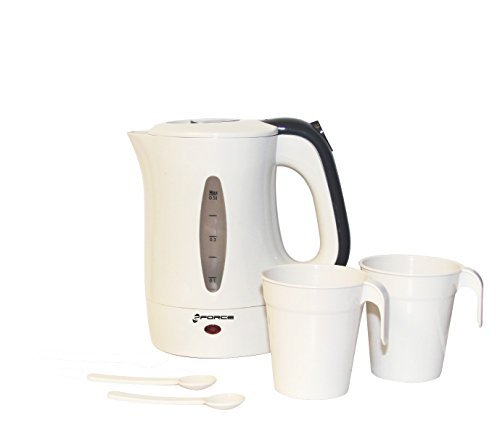 GForce GF-P1549-1042 Electric Kettle Travel Set 0.5 Litre Fast Boil Water Travel Kettle