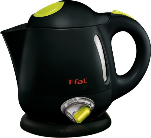 T-fal BF6138 Balanced Living 1-Liter 1750-Watt with Variable Temperature, Black, Small Electric Kettle