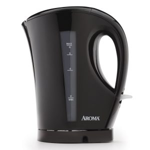 Aroma 1.5 Litre (6-Cup) Black, Cordless Electric Water Kettle