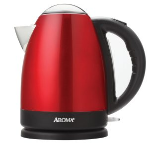 Aroma 1.7 Litre (7-Cup) Stainless Steel Cordless Electric Water Kettle