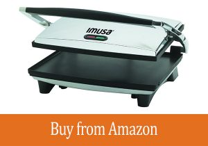 IMUSA, GAU-80102, Electric Panini and Sandwich Maker, Nonstick Panels