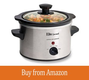 MaxiMatic MST-250XS Elite Gourmet 1-1/2-Quart Slow Cooker