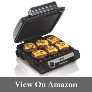 Hamilton Beach 3-in-1 MultiGrill Indoor Grill, Griddle & Bacon Cooker (25600)