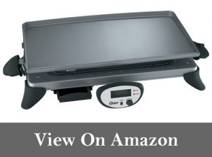 Oster CKSTGRRD25 20-by-10-Inch Digital Griddle with Removable Plate